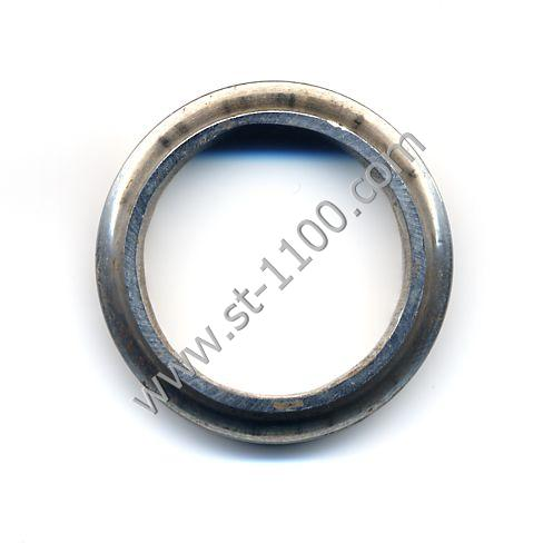Worn ball bearing race