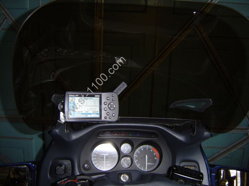 GPS on motorcycle