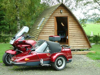 ST1100 with EZS RX5 sidecar, Thornhill, Stirling, Scotland
